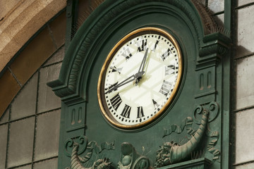 Porto, Old clock in Sao Bento railway station, Portugal