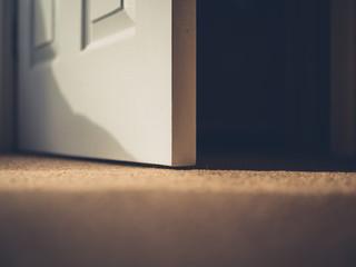 Open door in  house