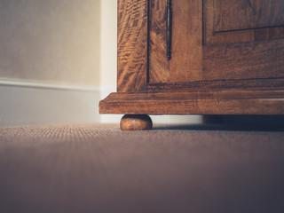 Corner of a wardrobe