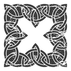Celtic pattern. Element of Scandinavian or Celtic ornament