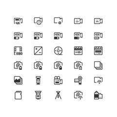 Minimal icon set of Multimedia Vector Line Icons Collection , good choice to use for website project , Ui and Ux design, mobile app and more. All vector icons based on 32px grid.