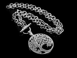 Silver Necklace for Women - Stainless Steel