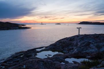 Rocky shore of the Utö island in Finland archipelago