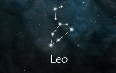 Leo horoscope or zodiac or constellation illustration