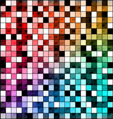 colored image of abstract blocks