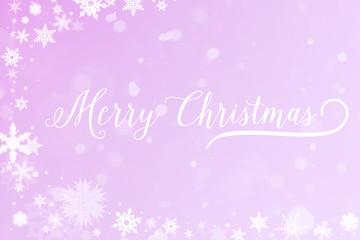 Merry Christmas Grußkarte in Winter