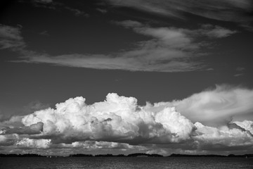 Large cloud is forming above the sea Kotka Finland