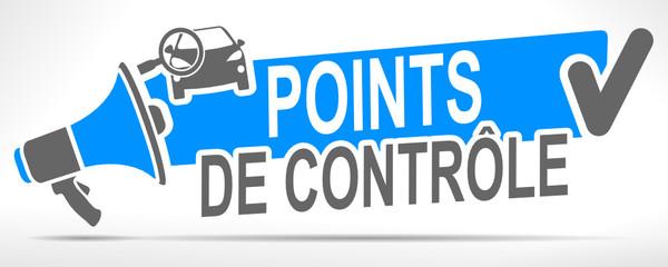 Fototapete - points de contrôle automobile sur mégaphone