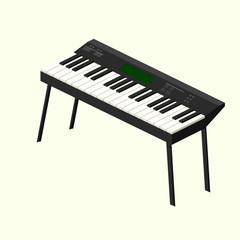 Electronic piano, vector