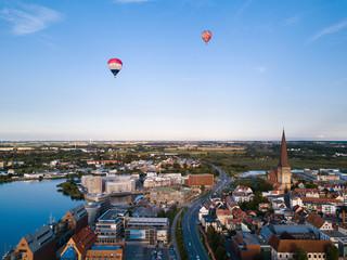 Heißluftballons über Rostock