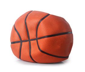 deflated basketball ball