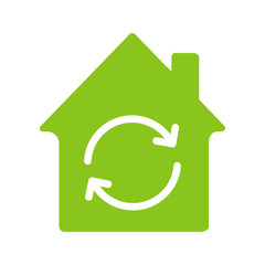 Home restoration, replacement glyph color icon