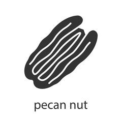 Pecan nut glyph icon