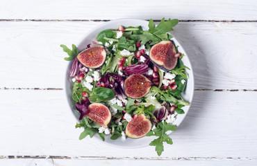 Autumn salad with arugula