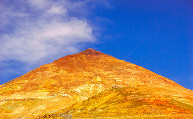 View on Cerro rico mine by Potosi in Bolivia