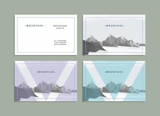 Business card, corporate identity, mountain landscape.