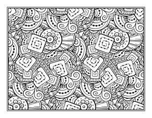 Fantasy decorative ornamental pattern page