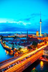Poster Berlin Aerial overview of Berlin