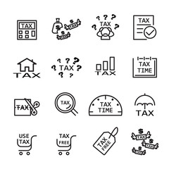 tax line icon