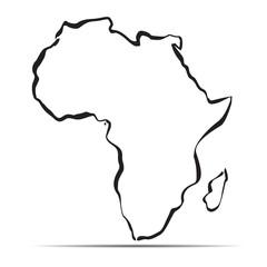 Black map of Africa. Vector Illustration