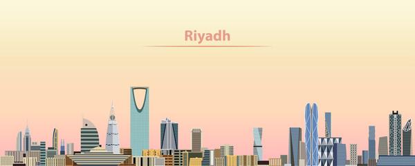 vector illustration of Riyadh city skyline at sunrise