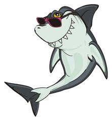 shark, predator, teeth, jaws, fin, fish, cartoon, animal, ocean, gray, wild, zoo, black, sunglasses, cool