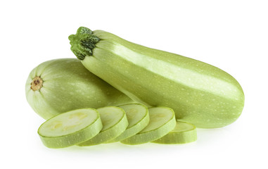 Squash vegetable marrow zucchini isolated on white background