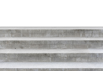 Concrete stairs isolated on white background