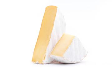 fresh camembert cheese isolated