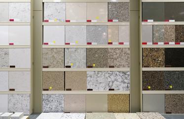 granite floor tile samples for sale in store