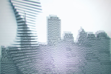 Circuit board city wallpaper