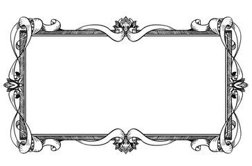Ornamental Frame Label Design