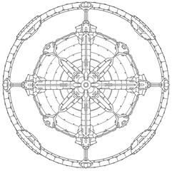 Techno Sci-fi Mandala