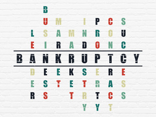 Business concept: Bankruptcy in Crossword Puzzle