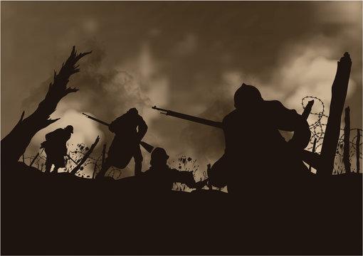Grande Guerre 14-18 - Tranchée