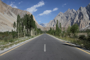 Karakoram highway near Passu, Pakistan