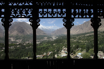 View of Karimabad from the Baltit fort in Hunza