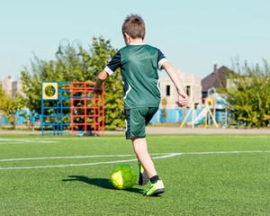 football on green field