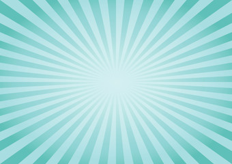 Abstract soft Green rays background. Vector Wall mural