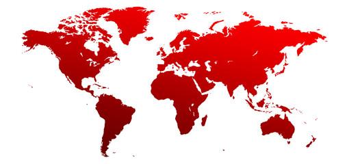 Mapa świata - fototapety na wymiar