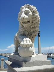 Sculpture lion in San Augustine Florida