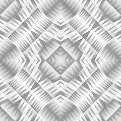 Monochrome Tribal Seamless Pattern. Aztec Style Abstract Geometric Art Print.