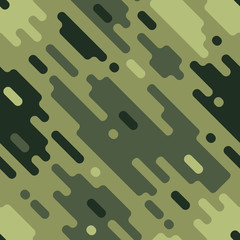 Camouflage modern colorful seamless pattern Dazzle paint pattern. Vector geometrical texture Modern cute background.