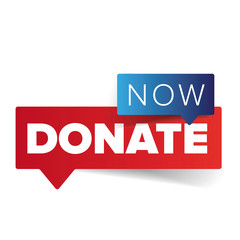 Donate now sign speech bubble button