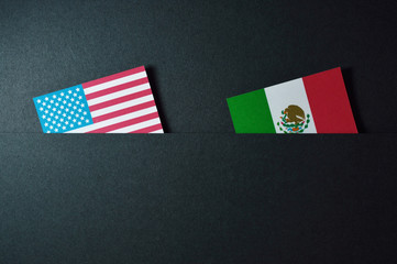 usa and mexico template