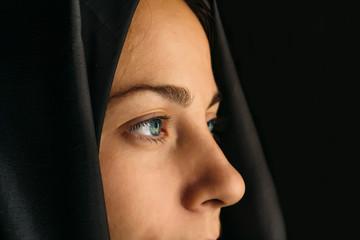Muslim woman in hijab, close up portrait