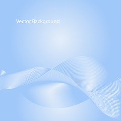Vector abstract background. Line waves. For business, science, technology design.