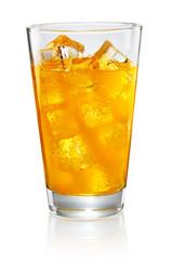Glass of orange soda