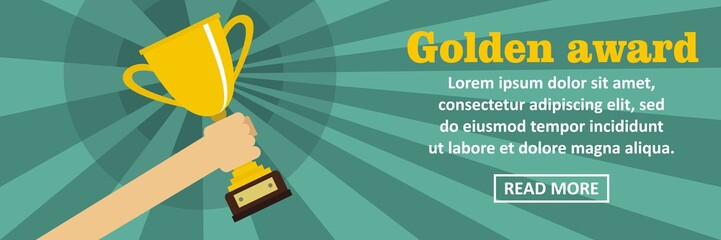 Golden award banner horizontal concept