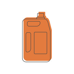 fuel canister icon, doodle style